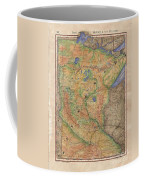 Minnesota Historic Wagon Roads Hand Painted Coffee Mug