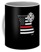 Missouri Firefighter Shield Thin Red Line Flag Coffee Mug