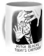 Mitch Blocks Today's Cartoon Coffee Mug
