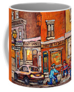 Molly And Bill's Duluth Near Coloniale And St Dominique C Spandau Plateau Mont Royal Hockey Artist  Coffee Mug