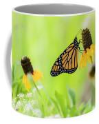 Monarch On Wildflowers Coffee Mug