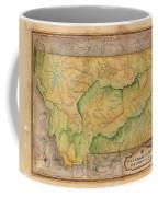 Montana Custom Map Art Rivers Map Hand Painted Coffee Mug