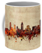 Montreal Skyline Sepia Coffee Mug
