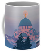 Moon In The Cross Of The Magnificent St. Sava Temple In Belgrade Coffee Mug