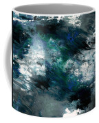 Moonlight Ocean- Abstract Art By Linda Woods Coffee Mug