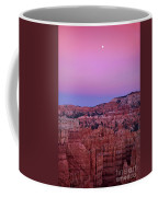 Moonrise Over The Hoodoos Bryce Canyon National Park Utah Coffee Mug by Dave Welling