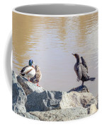 Morning Chat Coffee Mug by Alison Frank