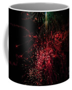 Mostly Red And White Fireworks Coffee Mug