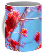 Mountain Ash Tree With Berries In Very Strong Wind Coffee Mug by Dutch Bieber