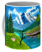 Mountain By The Lake Coffee Mug