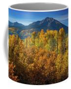 Mountains And Aspen Coffee Mug by John De Bord