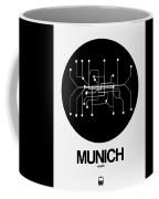 Munich Black Subway Map Coffee Mug