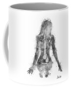 Music Was My First Love In Black And White Coffee Mug by Nikki Marie Smith