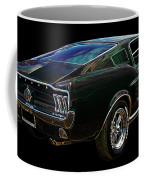 Neon Mustang Fastback 1967 Coffee Mug