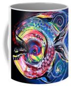 Neon Piranha Coffee Mug