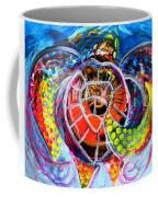 Neon Sea Turtle Wake And Drag Coffee Mug