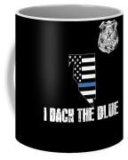 Nevada Police Appreciation Thin Blue Line I Back The Blue Coffee Mug