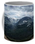 Never Summer Mountains Panorama Coffee Mug by Andy Konieczny