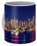 New York City Nyc Midtown Manhattan At Night Coffee Mug