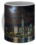 New York City Skyline At Night Coffee Mug