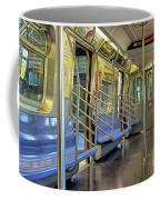 New York City Empty Subway Car Coffee Mug