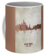 New York Rust Skyline Coffee Mug