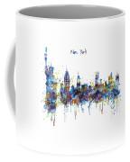 New York Watercolor Skyline Coffee Mug
