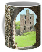 Norham Castle And Tower Through The Entrance Gate Coffee Mug