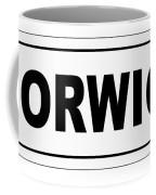 Norwich City Nameplate Coffee Mug