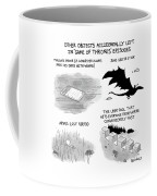 Objects Left In Game Of Thrones Episodes Coffee Mug