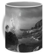 Ocean Splash In Black And White Coffee Mug