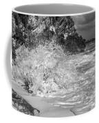 Ocean Wave Splash In Black And White Coffee Mug