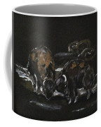 Office Fight Coffee Mug by Clyde J Kell