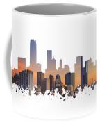 Okc Skyline Sunset Silhouette Coffee Mug