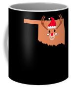 Oklahoma Christmas Hat Antler Red Nose Reindeer Coffee Mug