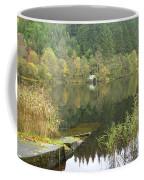 old boathouse at Loch Ard near Aberfoyle in autumn Coffee Mug