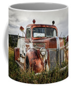 Old Fire Truck In The Mountains Coffee Mug