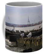 Old New Jersey Pier Statue State Park II Coffee Mug
