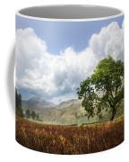 Old Scottish Farmlands Under The Clouds Coffee Mug