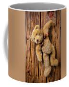 Old Teddy Bear Hanging On The Door Coffee Mug