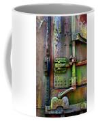 Old Weathered Railroad Boxcar Door Coffee Mug