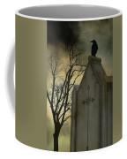 Ominous Clouds Surround Crow Coffee Mug