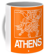 Orange Map Of Athens Coffee Mug