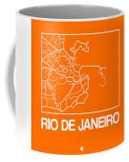 Orange Map Of Rio De Janeiro Coffee Mug