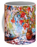 Orange Trumpet Flowers Coffee Mug