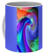 Original Fine Art Digital Abstract Warp10c Scaled Blue. Coffee Mug by G Linsenmayer
