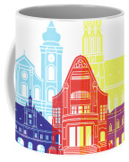 Osijek Skyline Pop Coffee Mug