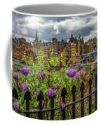 Overlooking The Train Station In Edinburgh Coffee Mug