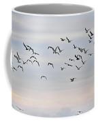 Pacific Ocean Sky With Sea Gull Coffee Mug