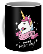 Pacifier Fairy Gift Idea Unicorn Took My Paci Away Coffee Mug
